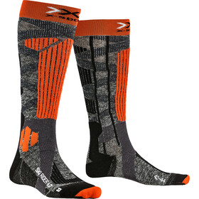 X-Socks Ski Rider 4.0 Sukat Miehet, stone grey melange/x-orange